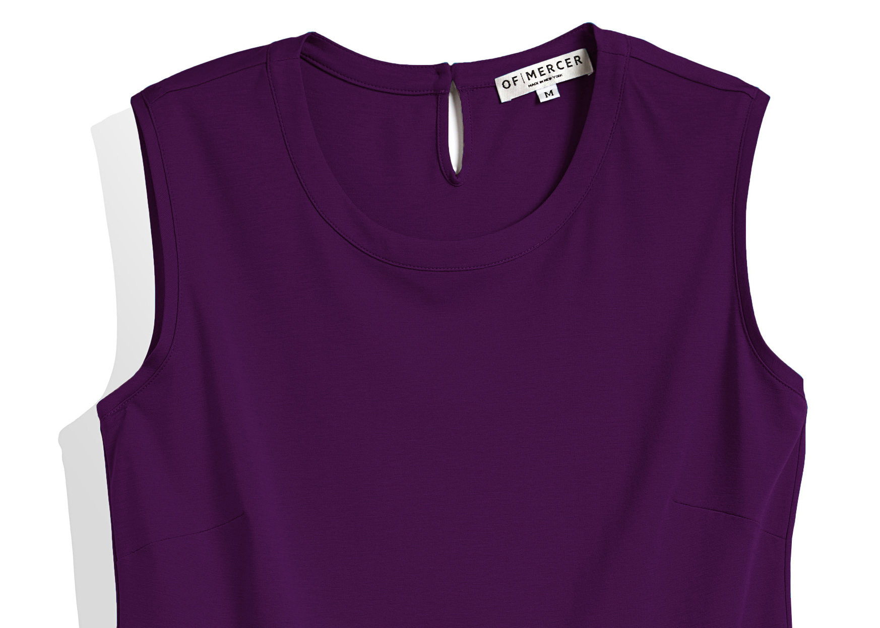 Of Mercer | Purple Elizabeth Top | Detail Shot