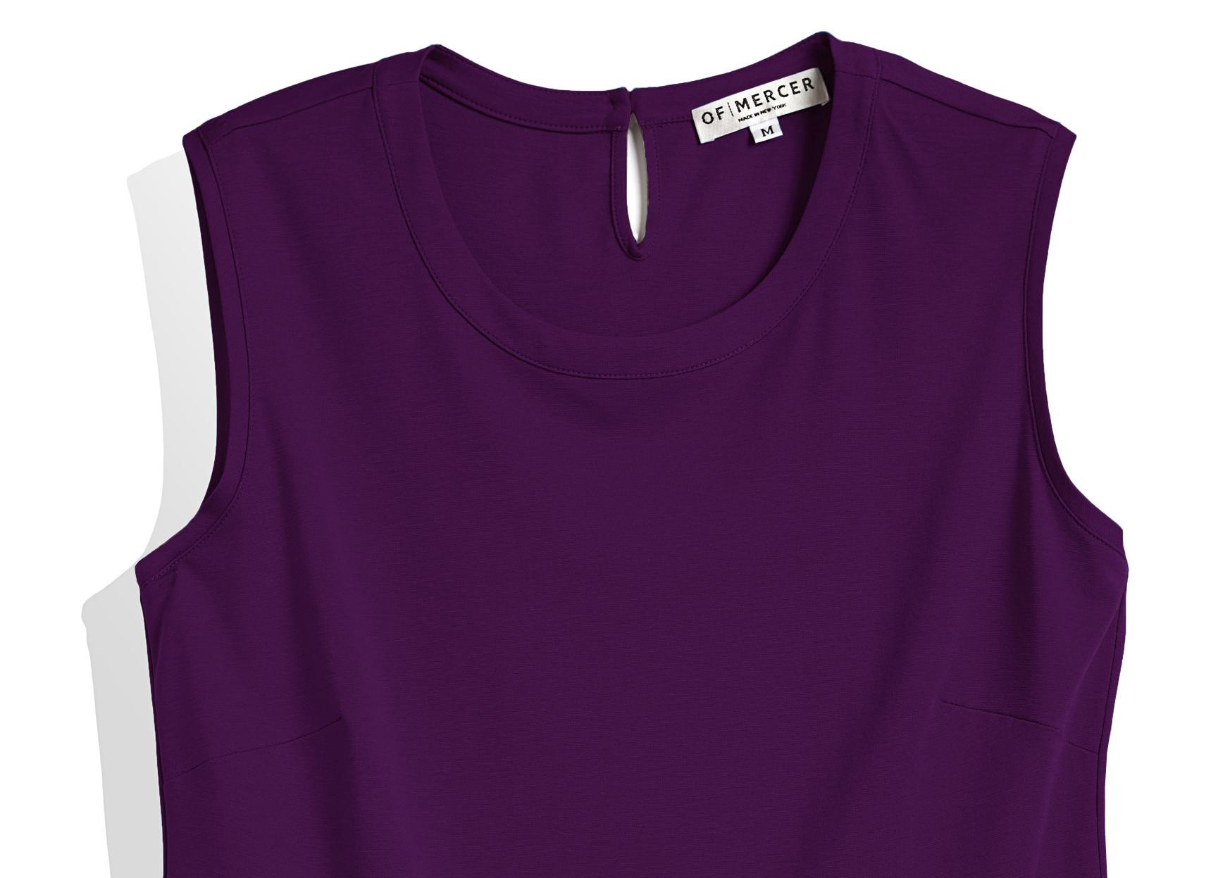 Of Mercer Purple Elizabeth Top Detail