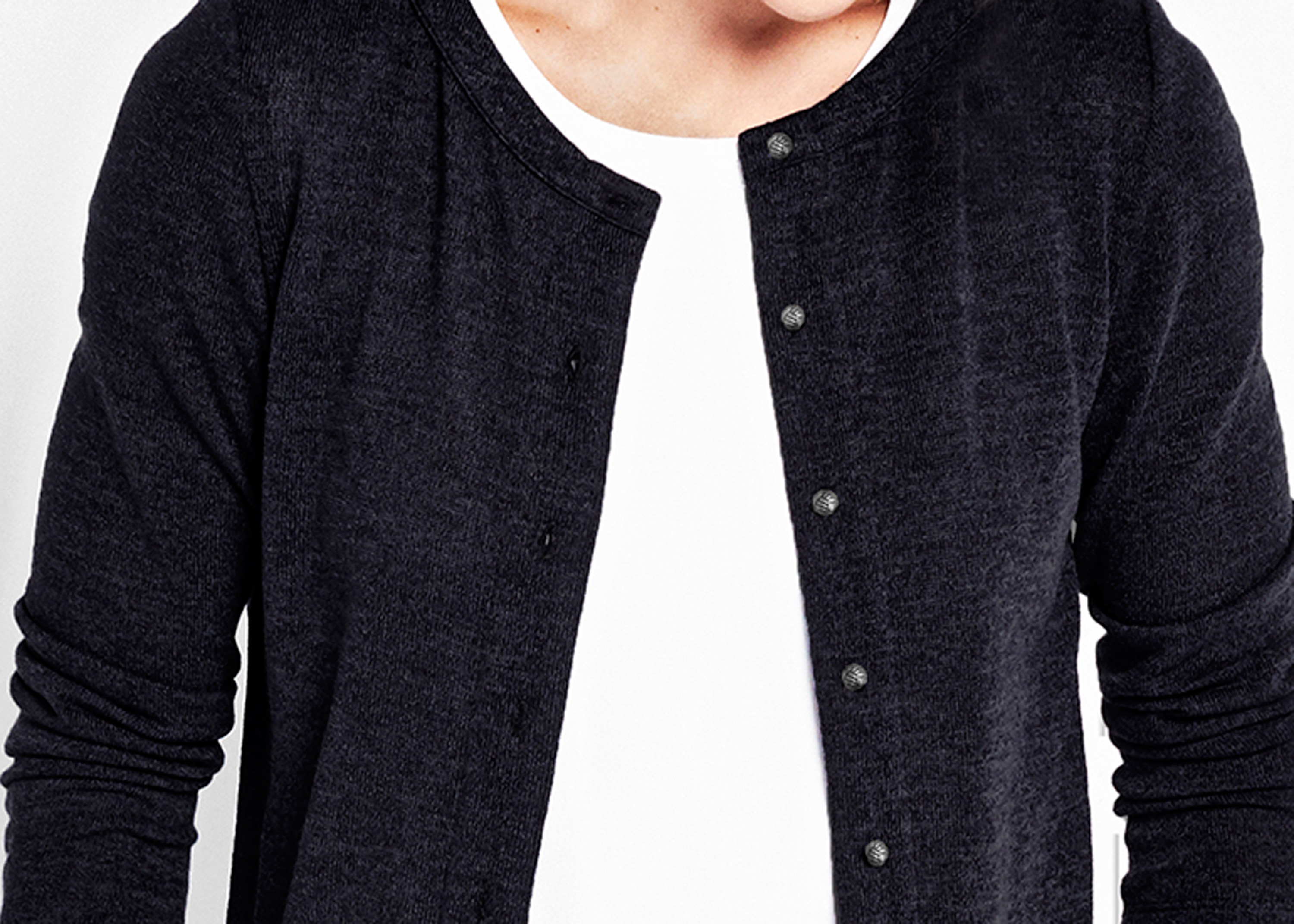 Of Mercer | Black Whitney Cardigan | Detail Shot