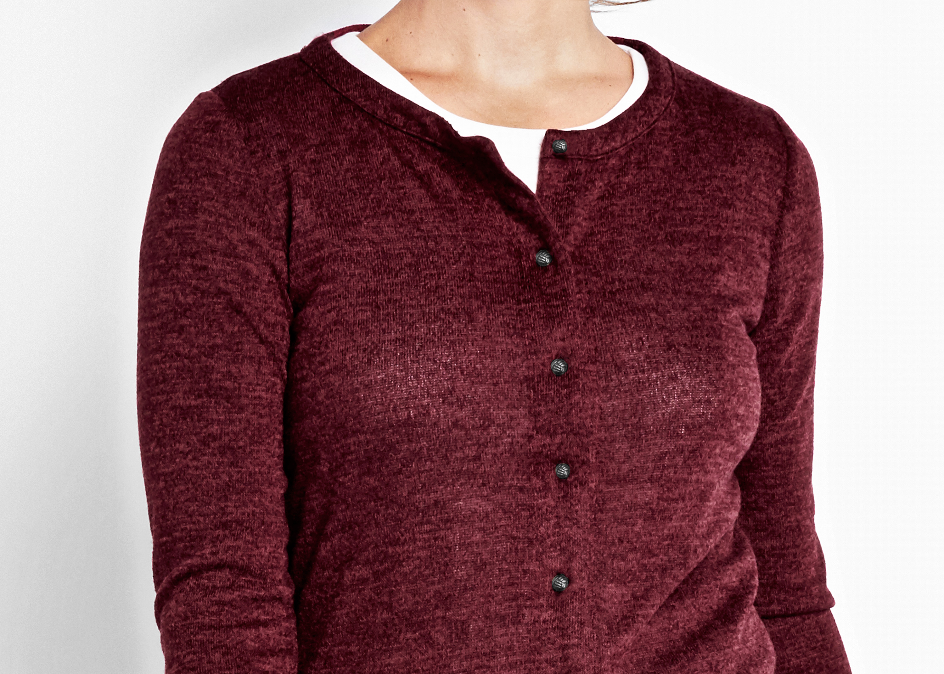 OF Mercer Burgundy Whitney Cardigan