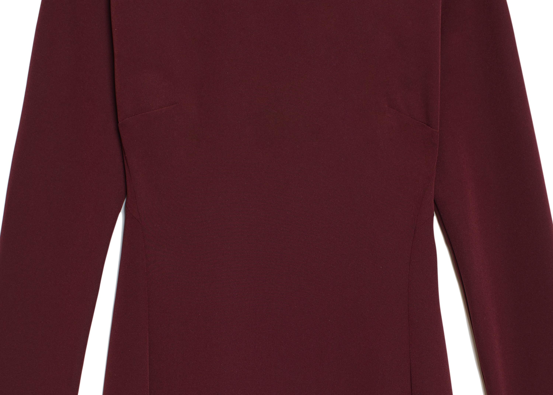 Of Mercer | Burgundy Morgan Dress | Detail Shot