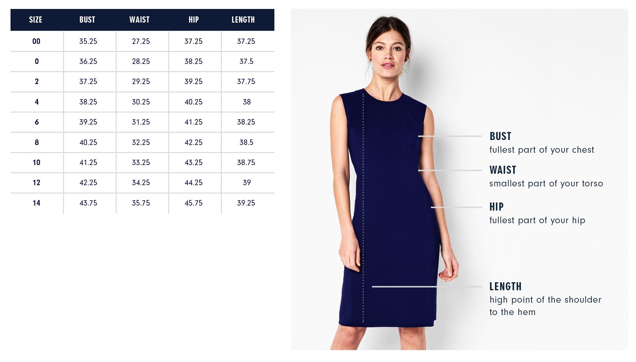 Of Mercer | York Dress | Size Guide