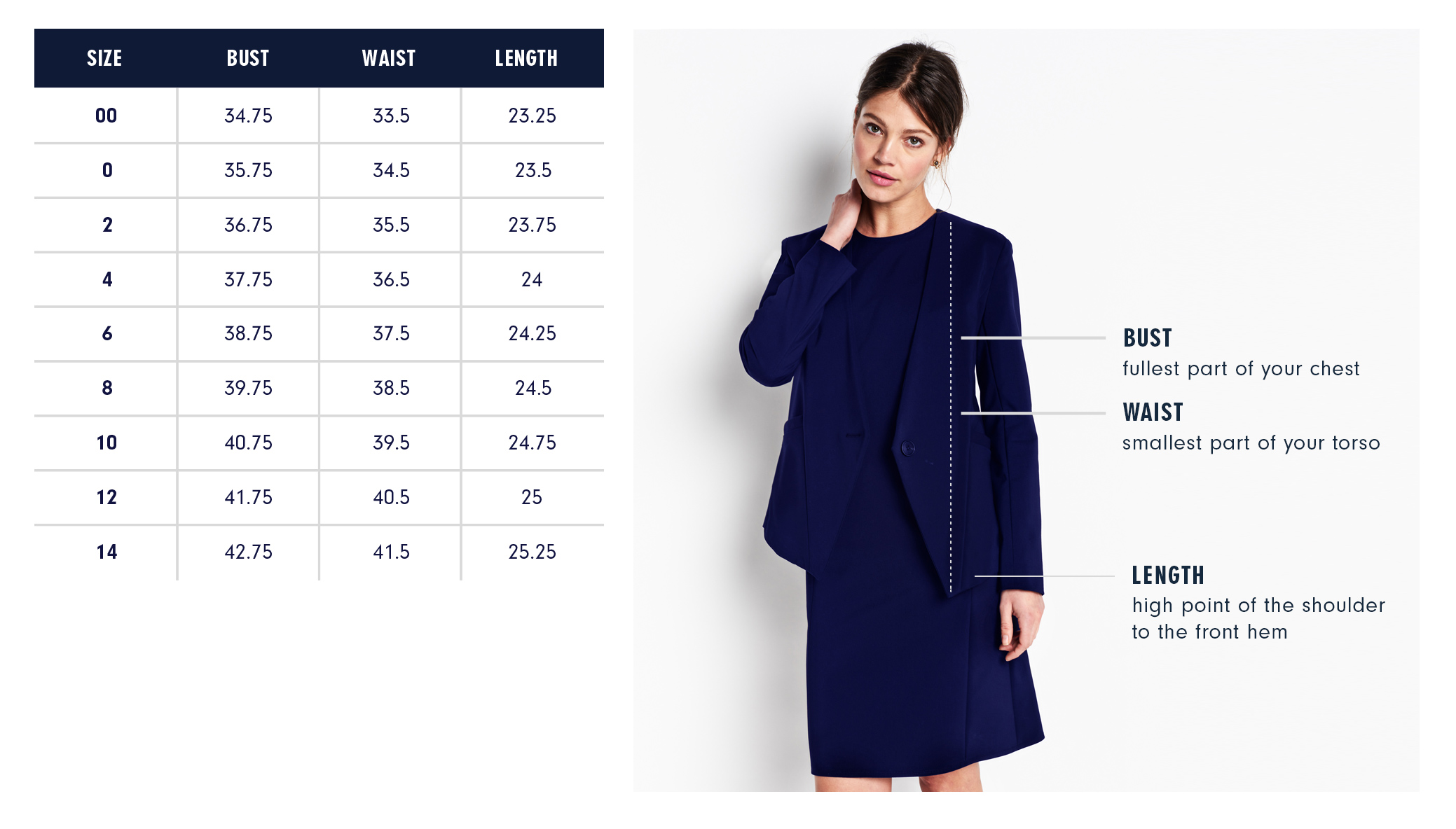 Of Mercer | Crosby Jacket | Size Guide