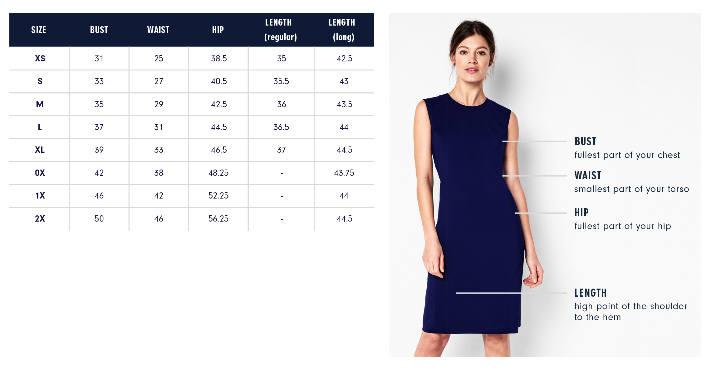 Of Mercer | Sutton Wrap Dress | Size Chart