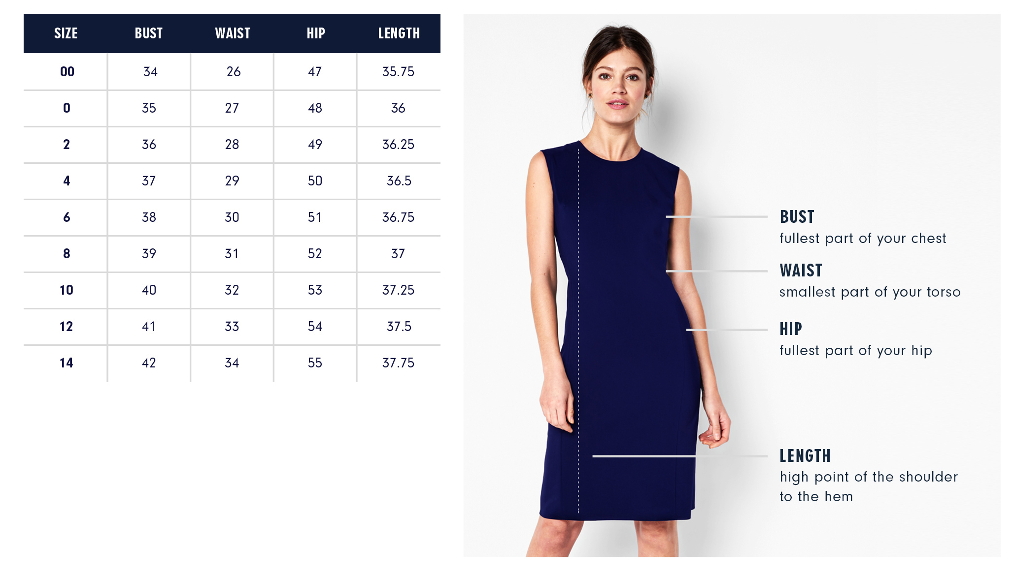 Of Mercer | Greenwich Dress | Size Guide
