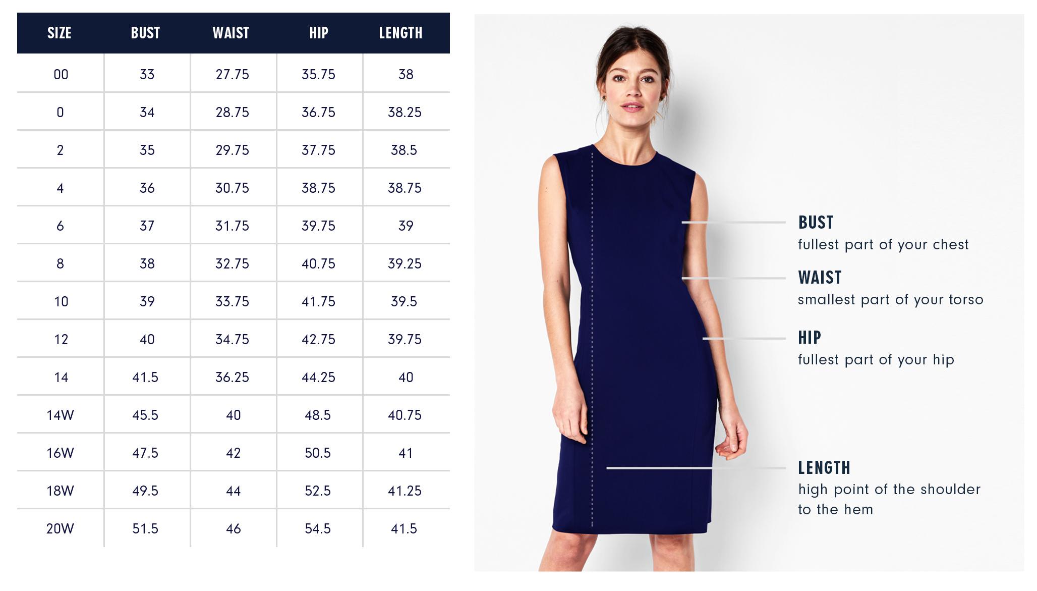 Of Mercer   Hudson Dress   Size Guide