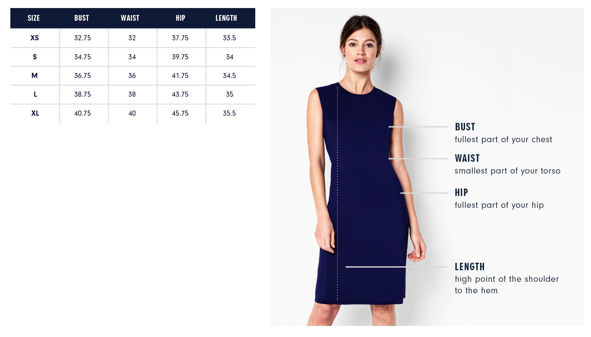 Of Mercer | Mott Dress | Size Guide