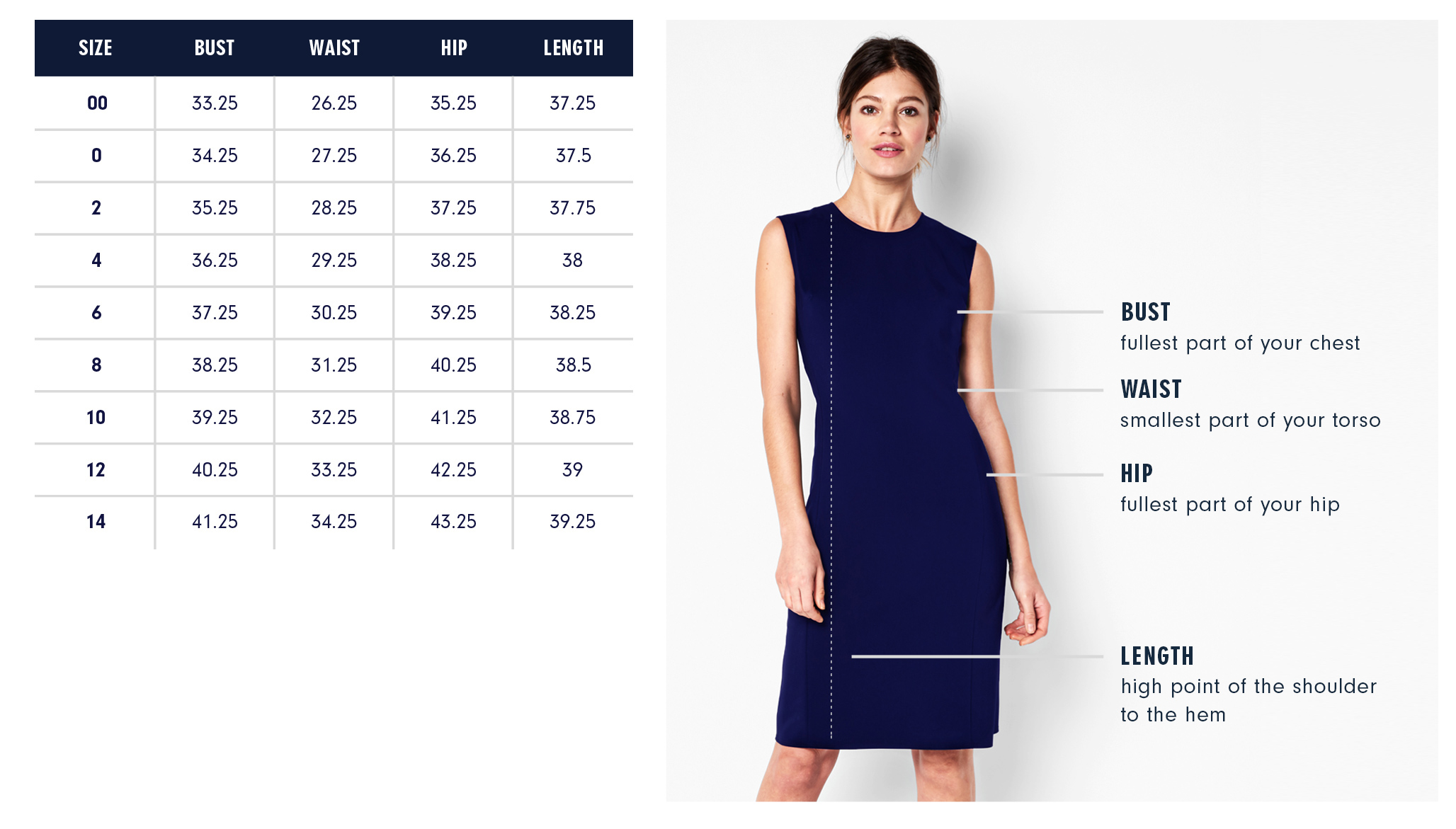 Of Mercer | Bedford Dress | Size Guide