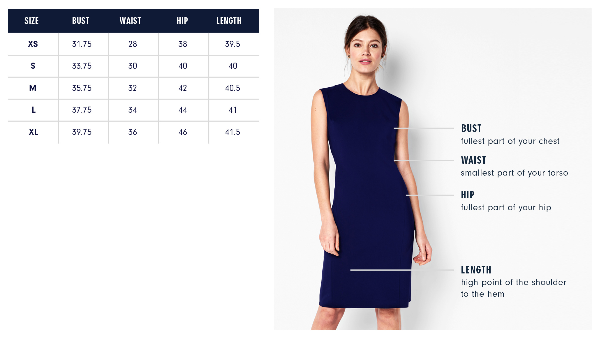 Of Mercer | Baxter Dress | Size Guide