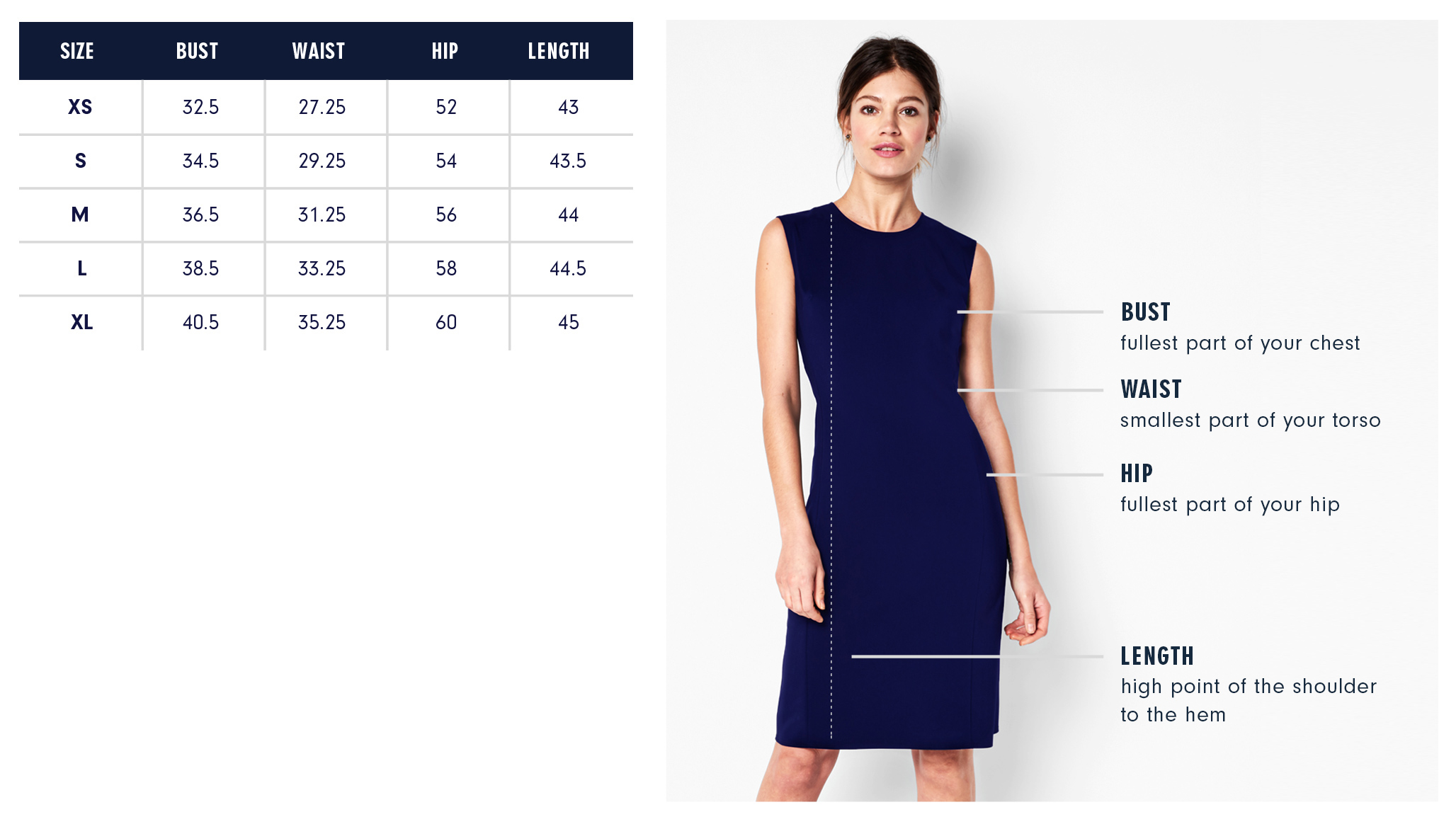 Of Mercer | Lincoln Reversible Dress | Size Guide