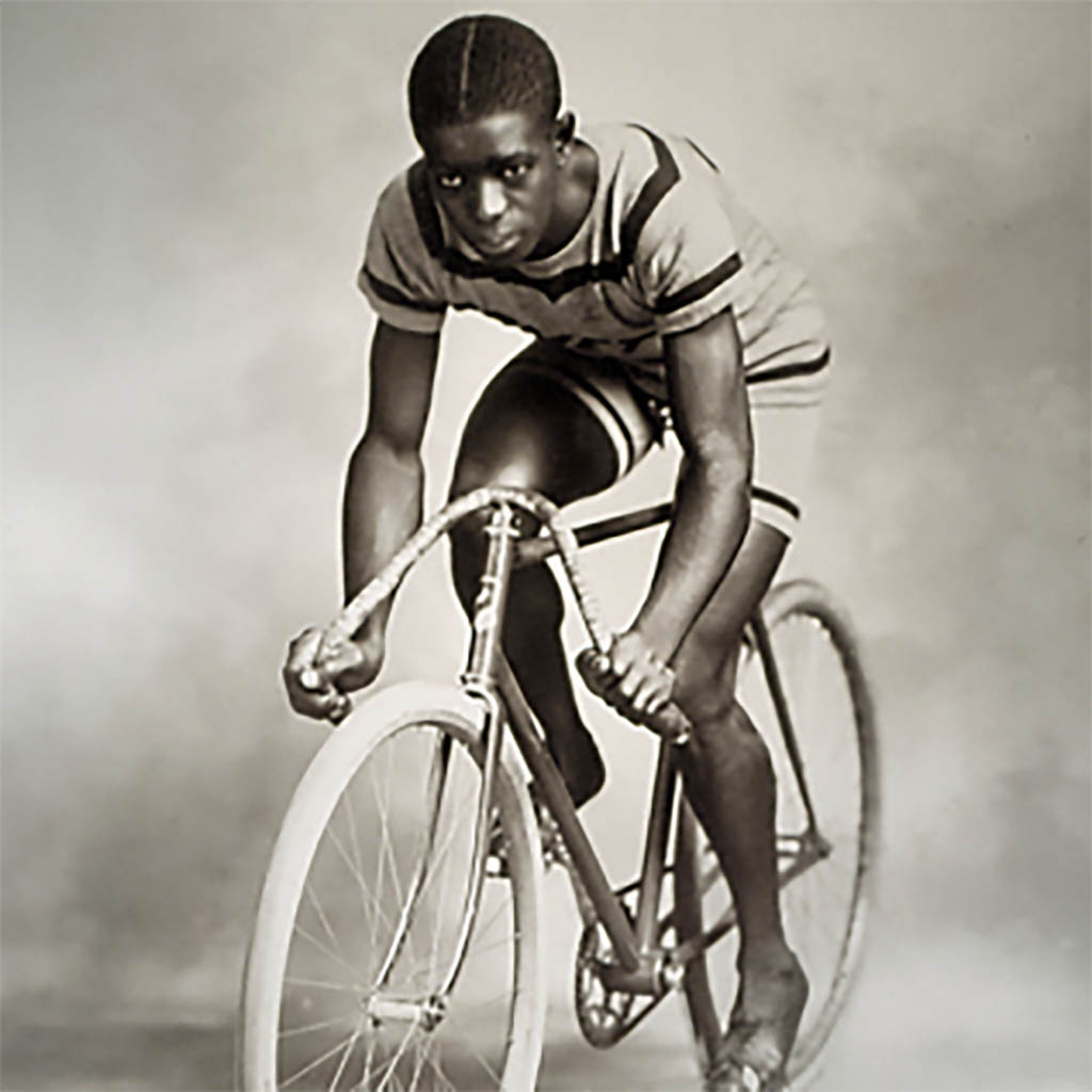 MAJOR TAYLOR - FIRST AFRO AMERICAN TRACK WORLD CHAMPION 1899