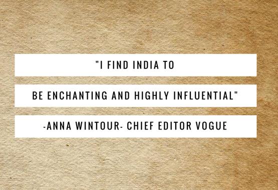 Anna Wintour India quote