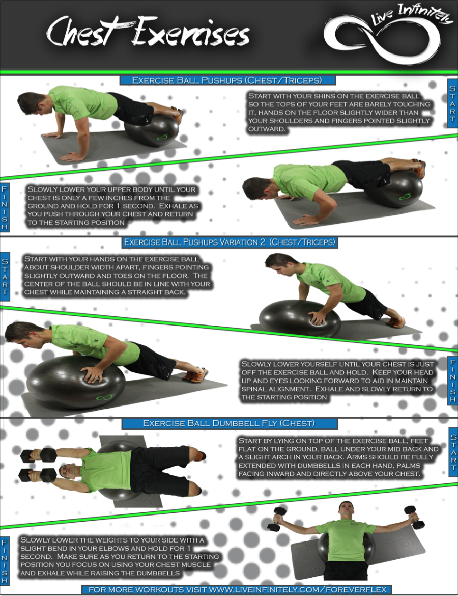 chest workouts for Exercise Ball