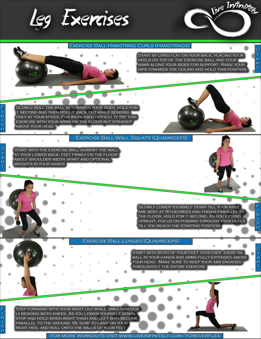 leg workouts for Exercise Ball