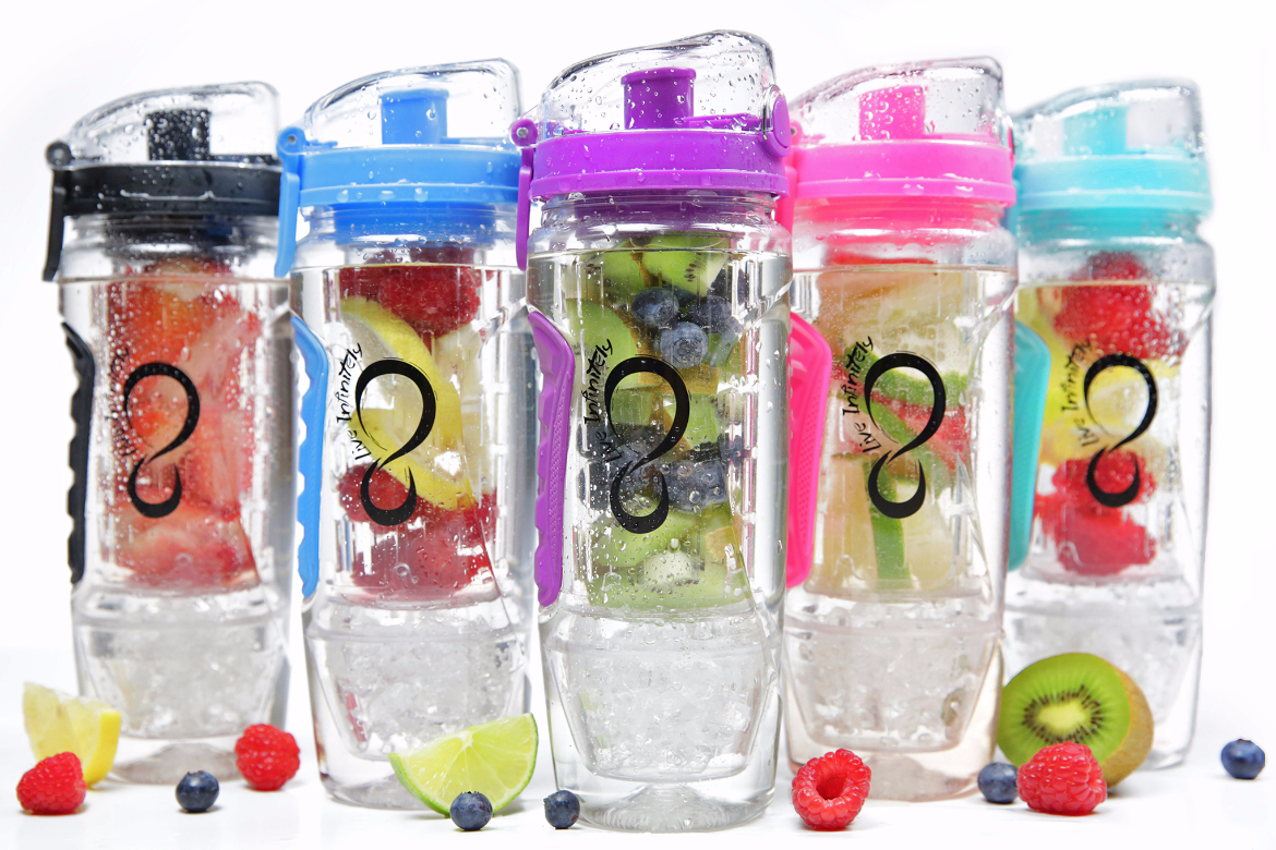 32 oz. Infuser Water Bottle & Reusable Gel Freezer Ball