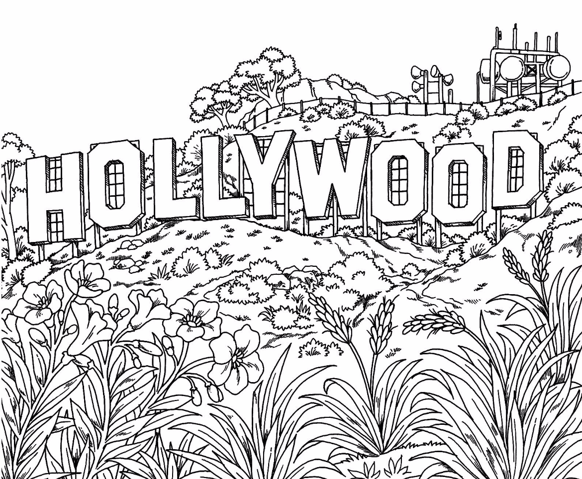 Hollywood Coloring Page