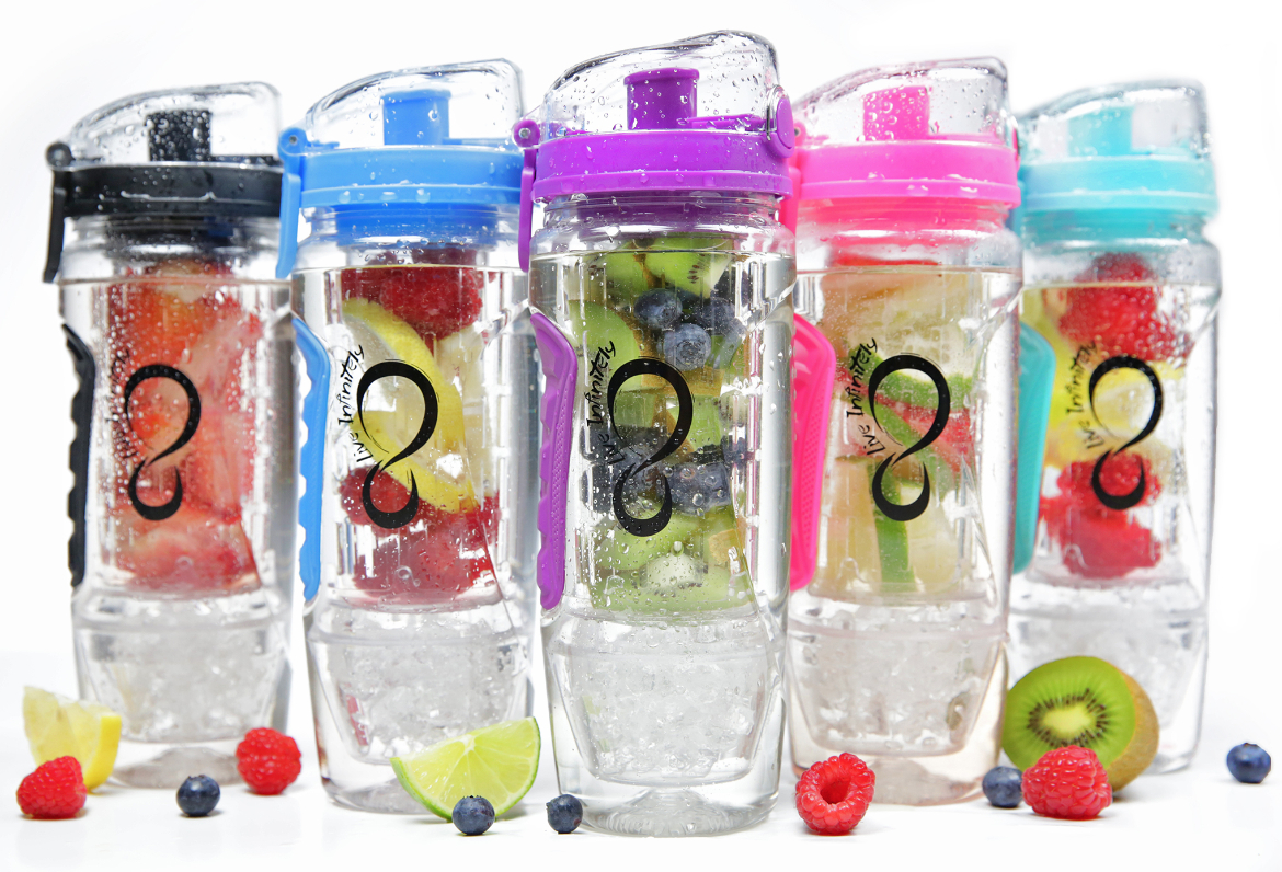 Infuser Water Bottle With Gel Freezer Ball