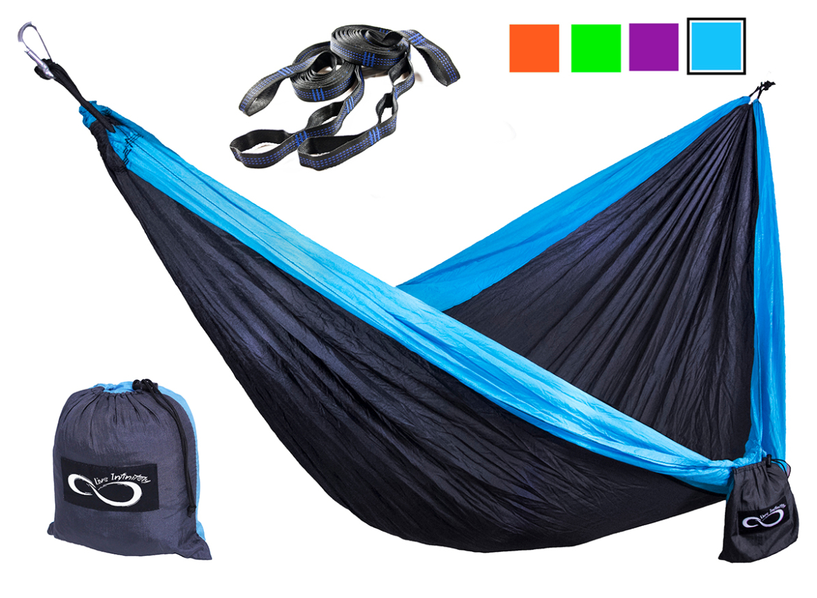 Double Camping Hammock and Tree Straps