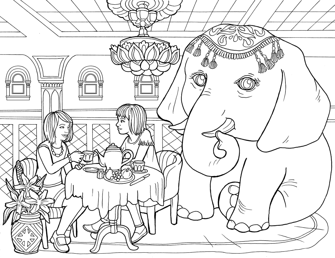 The Elephant in the Room Coloring Page