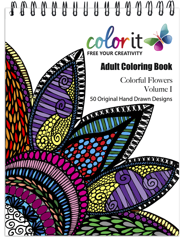 Colorful Flowers Coloring Book