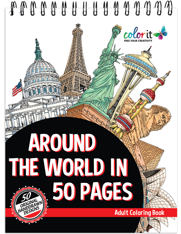Around the world Coloring Book
