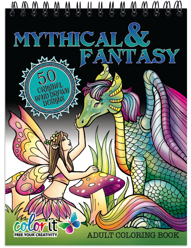Mythical and Fantasy Coloring Book