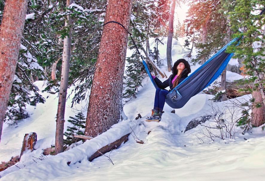 hammocking in winter