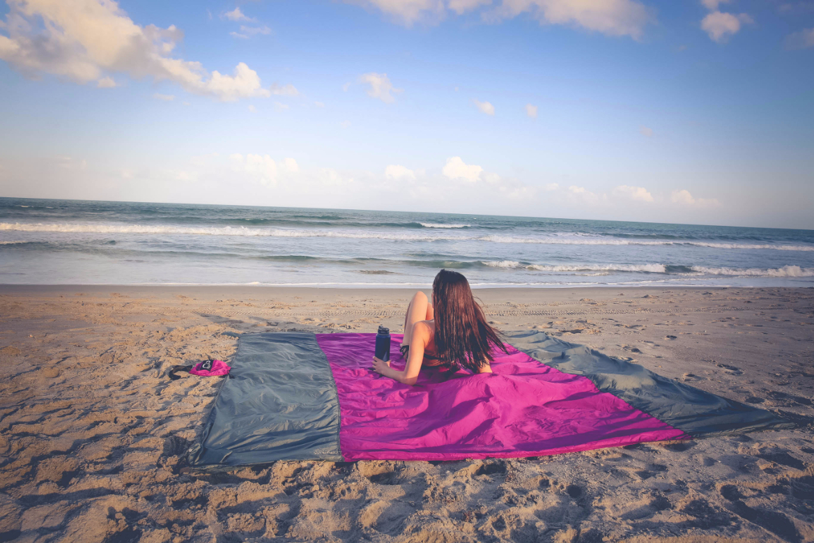 Live Infinitely 9' x 10' Sand Free Nylon Beach Blanket