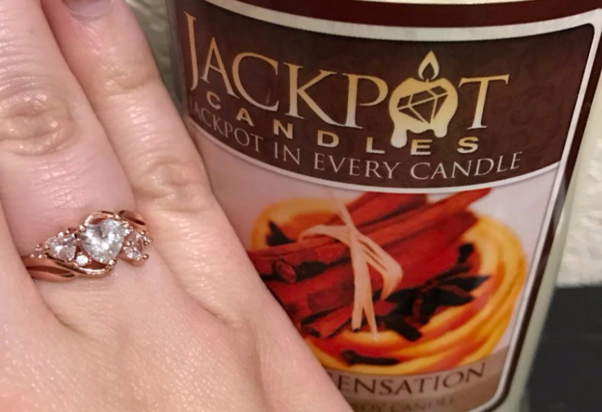 Jackpot Candles $100 Ring Reveal