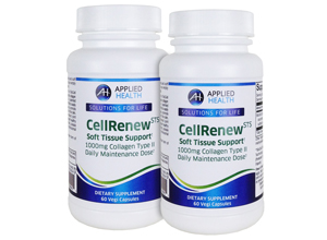 2-Pack CellRenew STS with 1000mg's Collagen Type 2, Hyaluronic Acid, Chondroitin Sulfate.