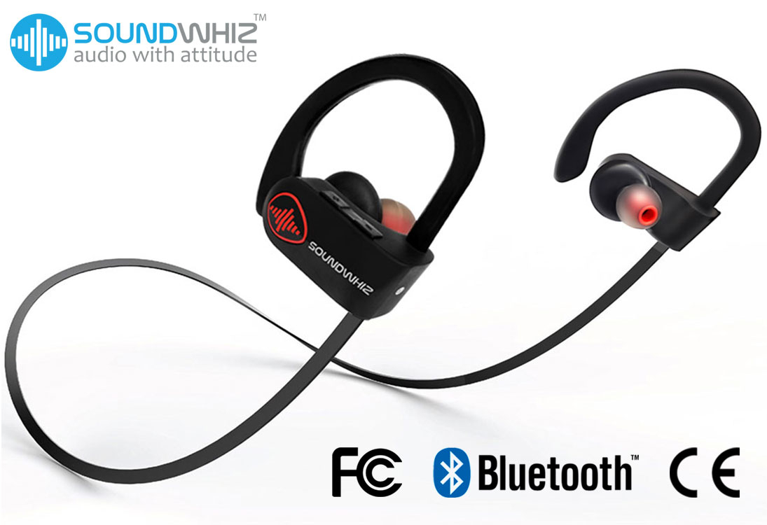 SoundWhiz Turbo Bluetooth Running Headphones
