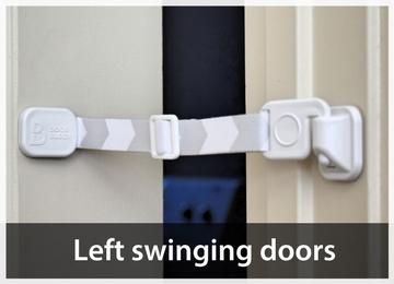 Left swinging door - keep door ajar for cat