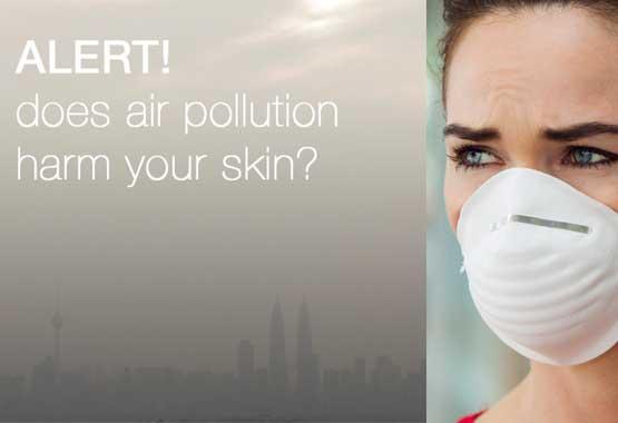 pollution damages skin