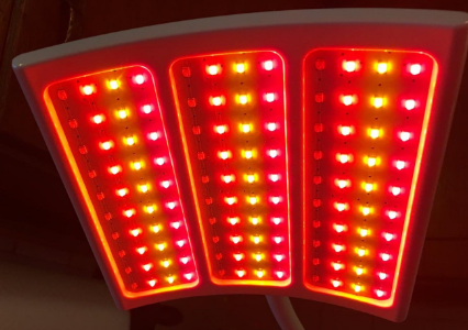 red light therapy with LED bulb