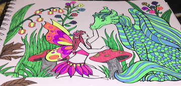 Gel Pens Mythical Book
