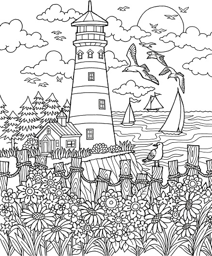 Mill coloring pages | Coloring pages to download and print
