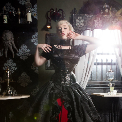 Victorian Gothic over a corset