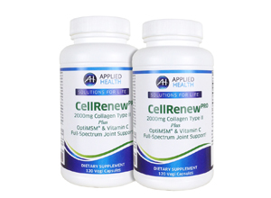 2-Pack CellRenew Pro with 2000mg's Collagen Type 2, Hyaluronic Acid, OptiMSM, and Vitamin C