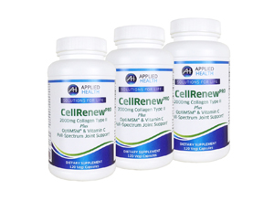 3-Pack CellRenew Pro with 2000mg's Collagen Type 2, Hyaluronic Acid, OptiMSM, and Vitamin C