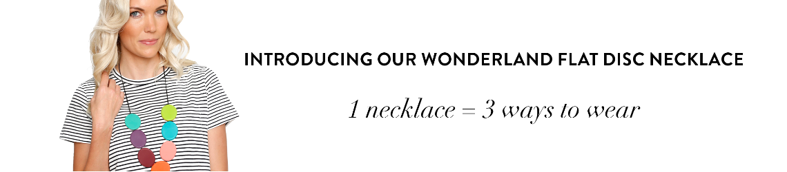 Introducing our Wonderland Flat Disc Necklace