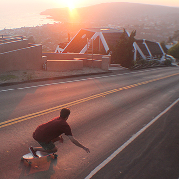 jelly skateboards longboard skateboarding laguna beach