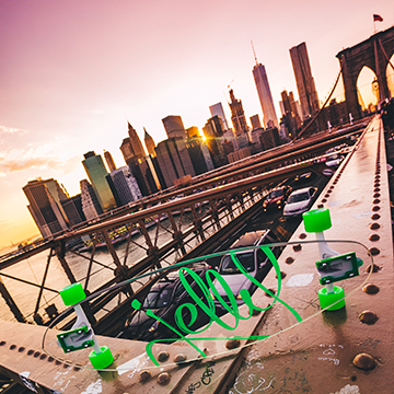 jelly skateboards new york city longboard skateboard brooklyn bridge