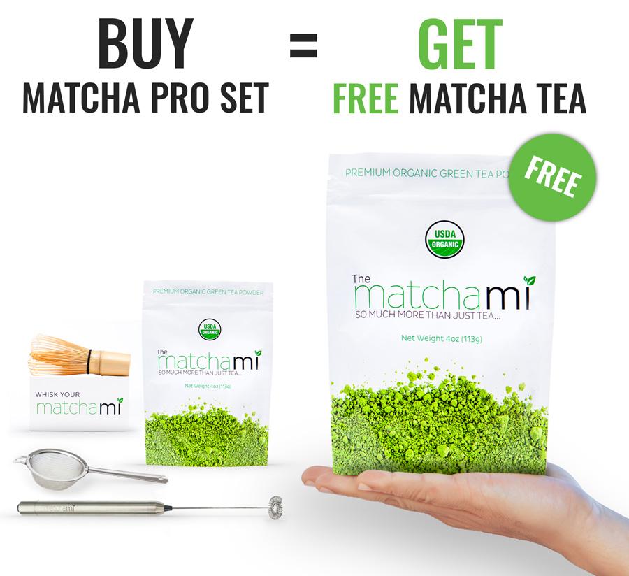 MatchaMi Pro Set + Free Matcha Tea