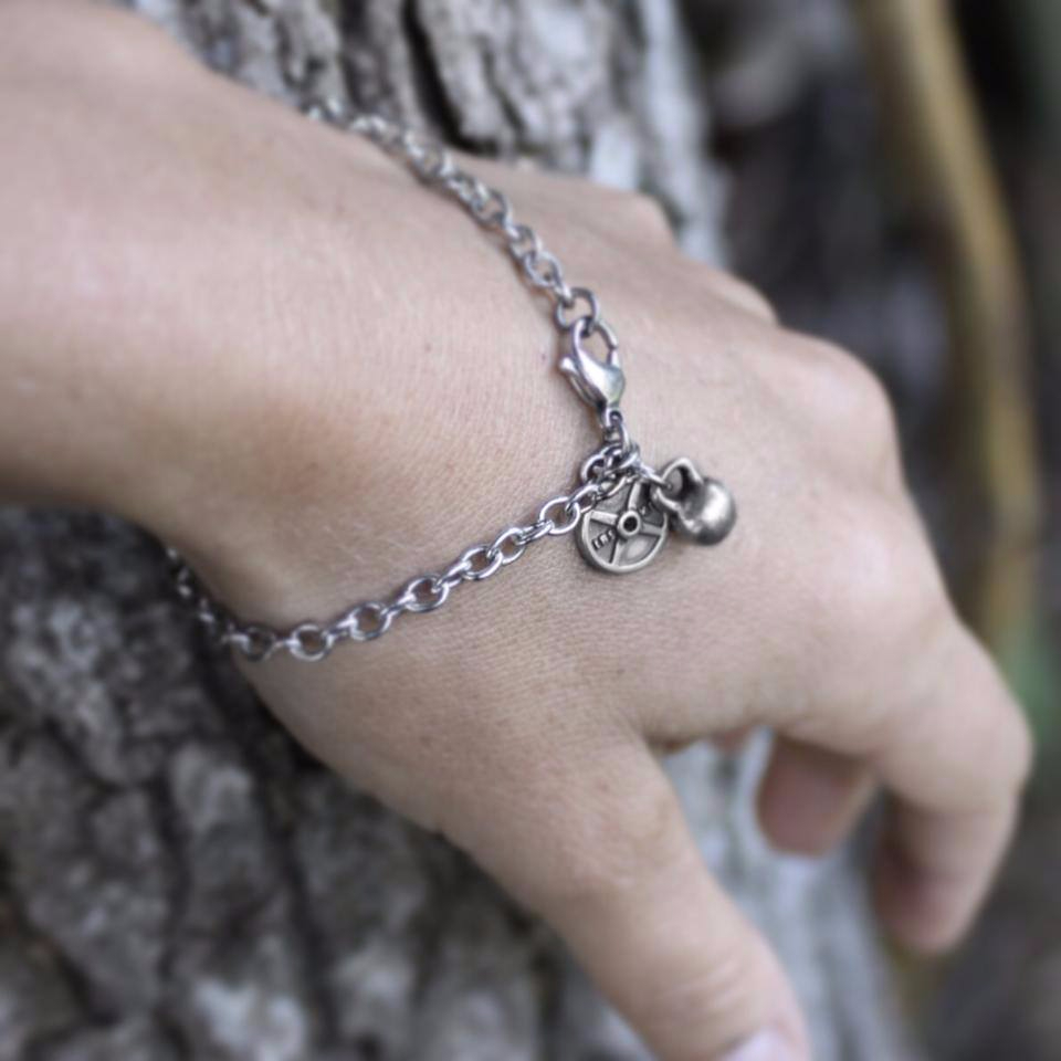 Fashletics Sterling Silver Charm Bracelet