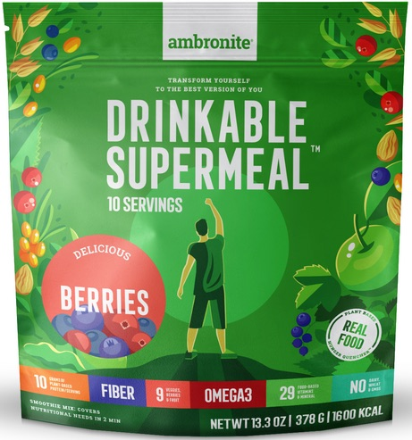 Ambronite Supermeal Meal Replacement Flavor Berries