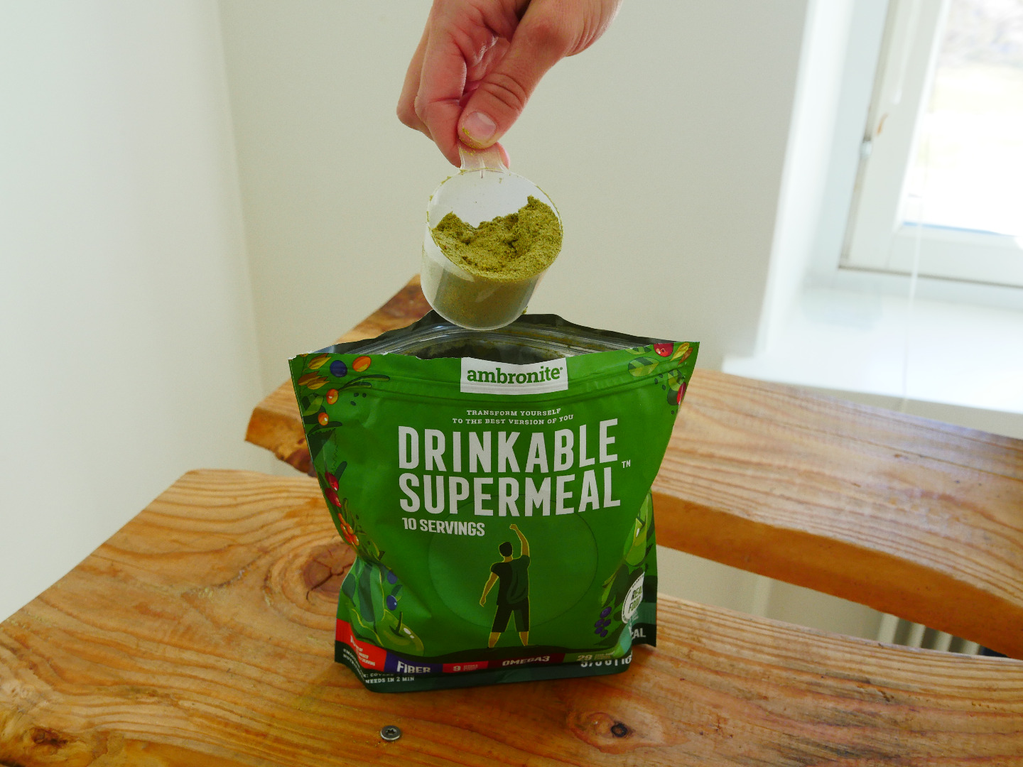 Ambronite Supermeal Meal Replacement Flavors Banana Berries Ginger Apple