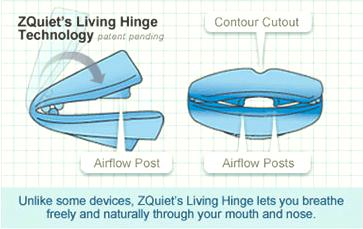 zquiet's living hinge technology