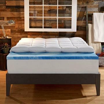 Sleep Innovations 4-Inch Dual Layer Mattress Topper - Gel Memory Foam and Plush Fiber