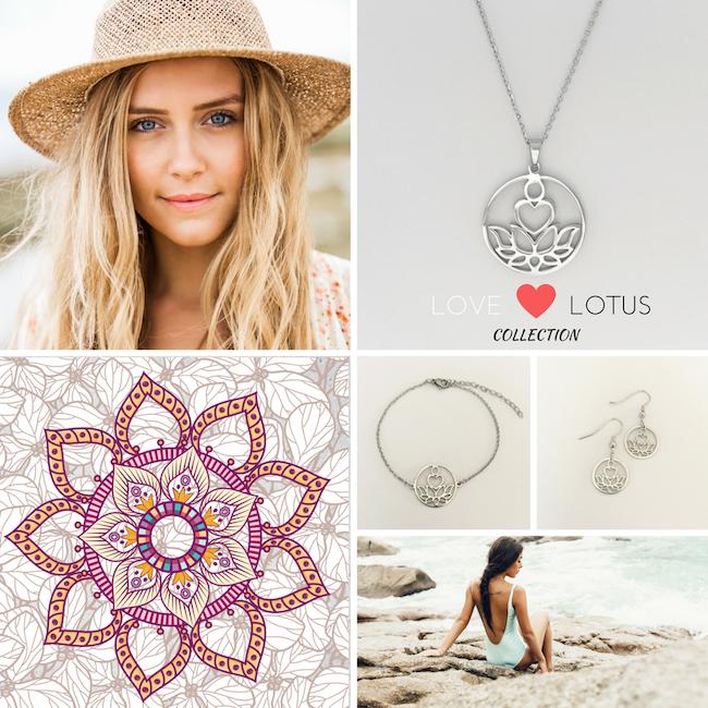 Love Lotus Silver Necklace