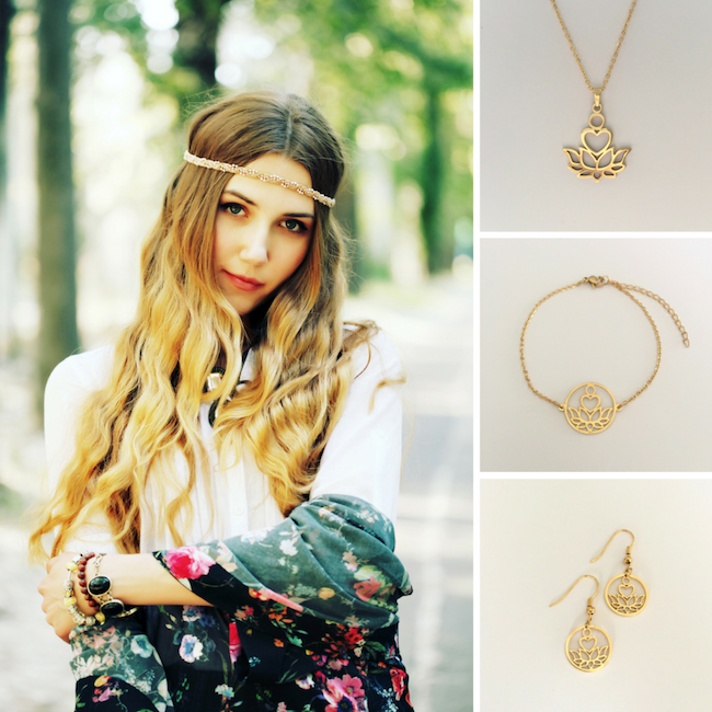 The Entire Gold Love Lotus Collection